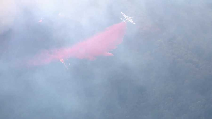 A wildfire is burning in a remote area near the Middle Fork of the American River in Placer County on Tuesday, June 28. The fire prompted evacuations in Todd Valley near Foresthill. Here are some aerial photos from LiveCopter 3.