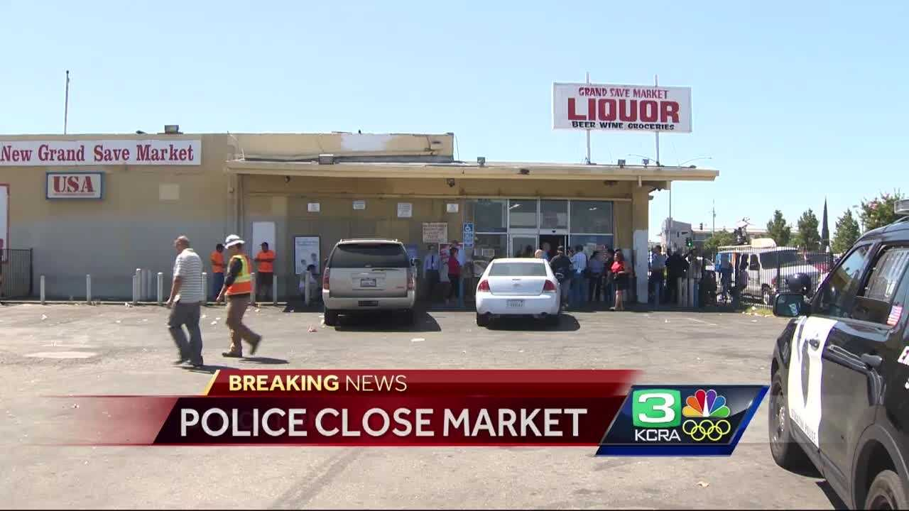 Stockton police and code enforcement shut down the Grand Save Market in Stockton after complaints of illegal activity.
