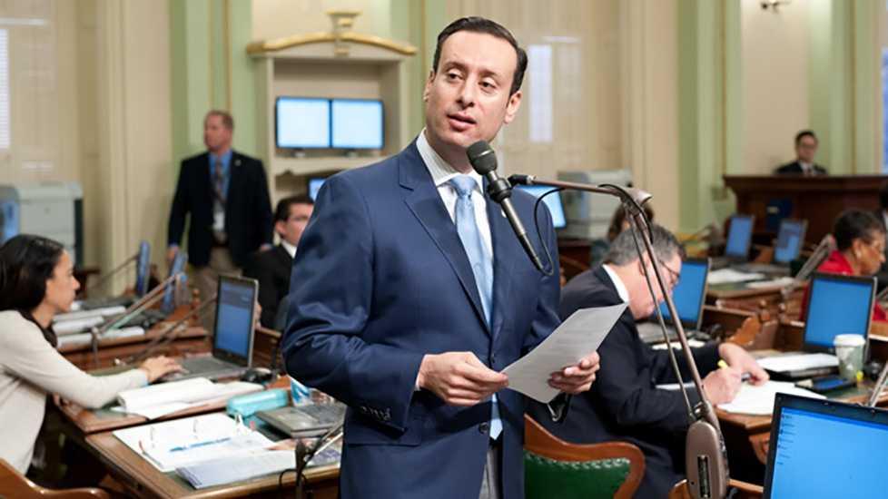California Assemblyman Roger Hernandez on the Assembly Floor on Thursday, March 31, 2016.