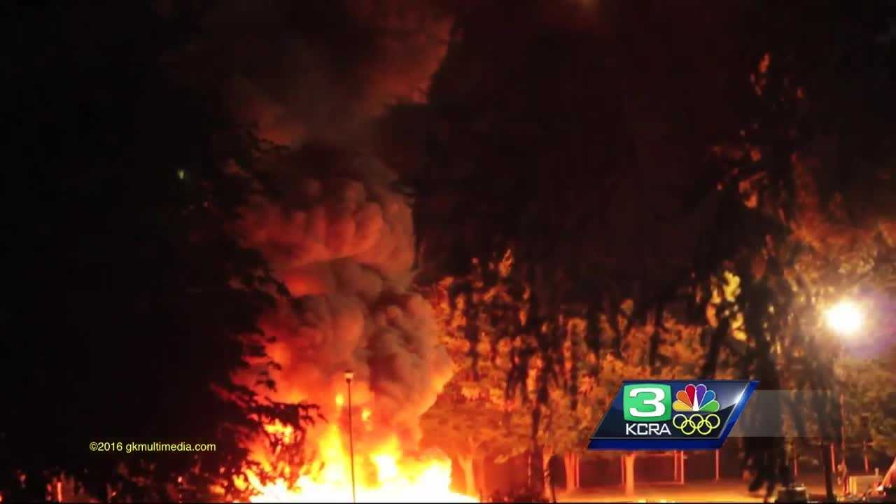 An investigation is underway at Hagan Park after a fire sparked after Monday's fireworks display.
