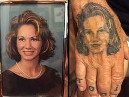 3.) My grandfather even has my high school senior photo tattooed on his hand.