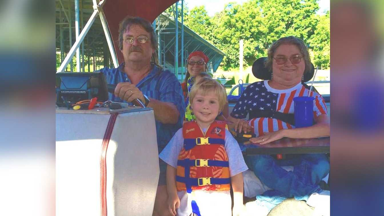 Jacob and Laurie Hoirup celebrate the Fourth of July with their family on the Sacramento River.