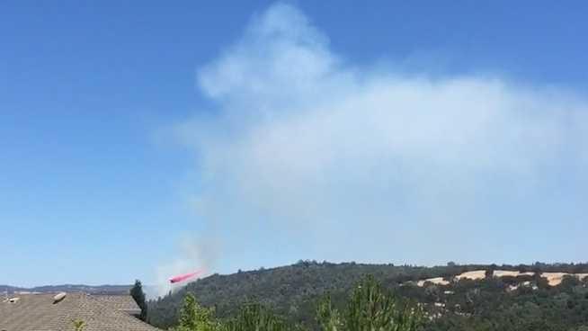 Vegetation fire in El Dorado Hills