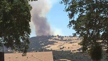 Fire crews are battling two wildfires are burning Tuesday, July 12 in Calaveras County: one larger one burning near Valley Springs and another smaller one near Copperopolis. Check out these photos of the fires and how it is affecting residents.Here is a shot of the fire near Valley Springs.