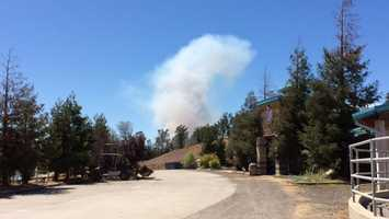 Here is a shot of the fire near Copperopolis, dubbed the Stagecoach Fire.