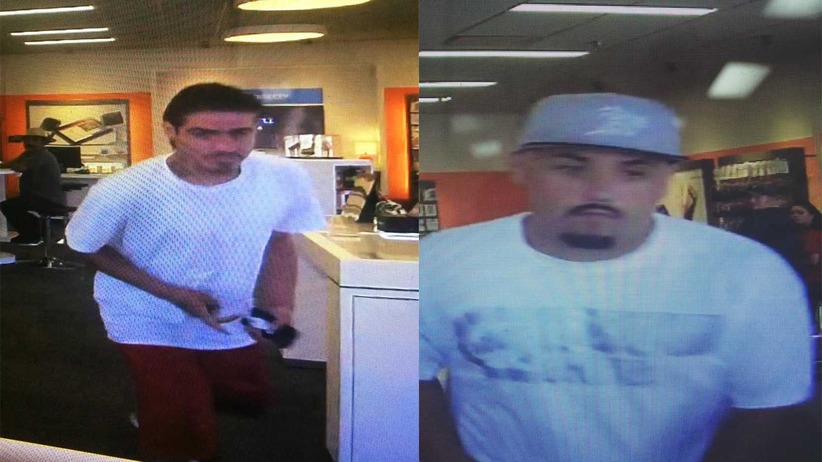 These two men are wanted by Patterson police for grand theft. (July 12, 2016)