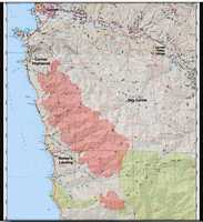 MAP: July 25, 2016Areas burned by the Soberanes Fire are marked in red.