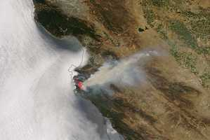 This image shows MODIS satellite imagery of the Soberanes Fire.
