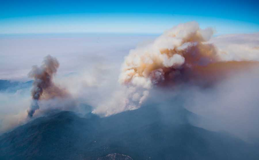 The Soberanes Fire is seen from above on July 25, 2016.
