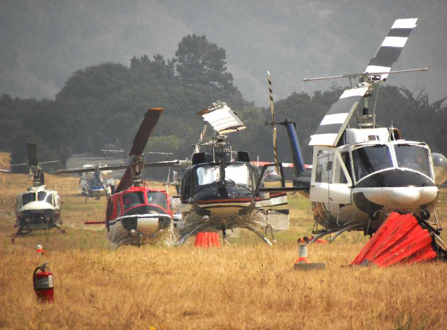 Helicopters were grounded in Carmel Valley July 26 because of heavy haze.