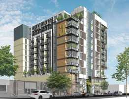 M.H. Mohanna Development released five renderings for its proposed high-rise apartment building. The 11-story building, called 19J, would be located at the corner of 19th and J street and feature 173 apartments. Check out renderings of the building's exterior: