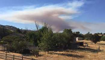 Fire near Putah Creek and Monticello Dam in Winters prompts evacuations.