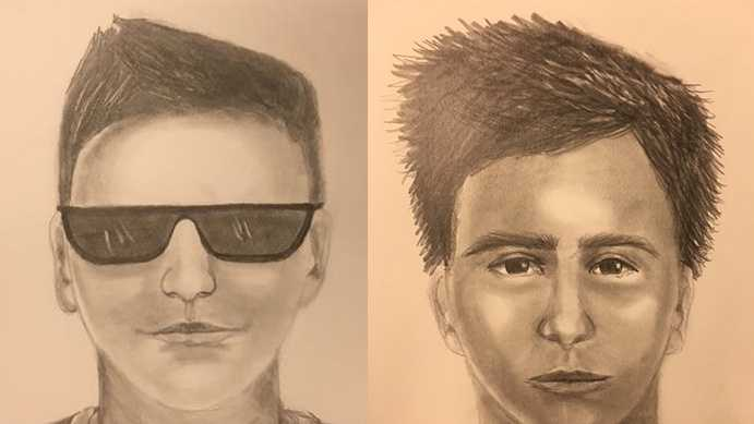 The first sketch is from the July 26 incident, and the second sketch is from the July 27 incident.