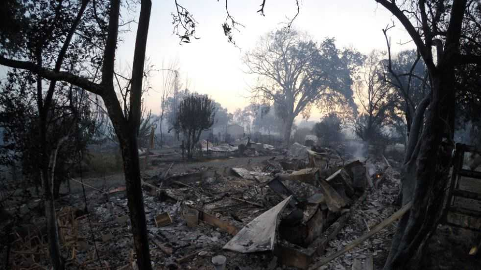 The Clayton Fire has left behind a scene of destruction in many neighborhoods in Lake County. (Aug. 15, 2016)