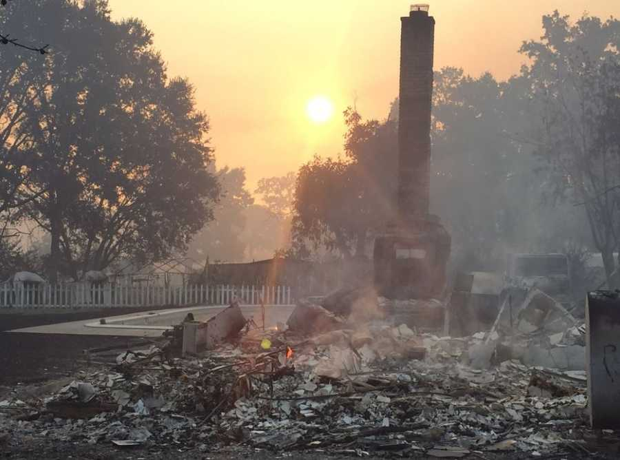 More than 100 homes have been destroyed by a wildfire that has ripped through several communities in Lake County, prompting many evacuations and threatening 1,500 structures. Take a look at the devastating picture left behind by the Clayton Fire.