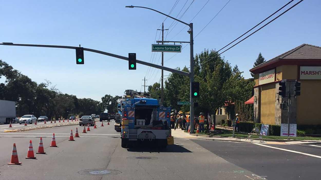 Major impact on traffic at Elk Grove Boulevard and Laguna Springs Drive.