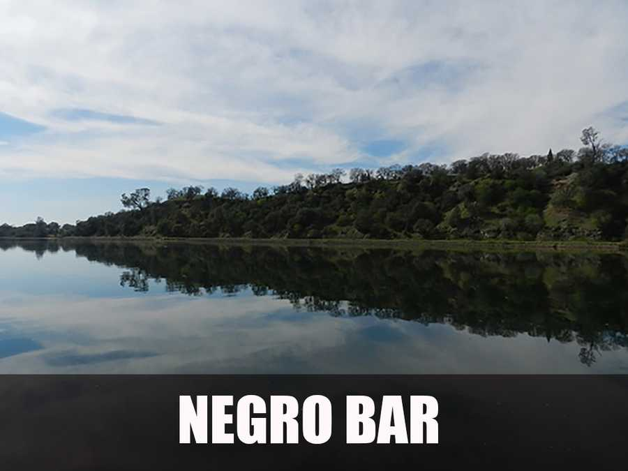 The Negro Bar area in Folsom was the site of a gold rush era African-American mining camp. (Source: http://www.stateparks.com/negro_bar_state_park_in_california.html)