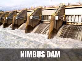 The Nimbus Dam is responsible for holding water from the American River to create the Lake Natoma reservoir. (Source: https://en.wikipedia.org/wiki/Nimbus_Dam)
