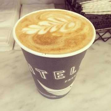 B. Drinking coffee
