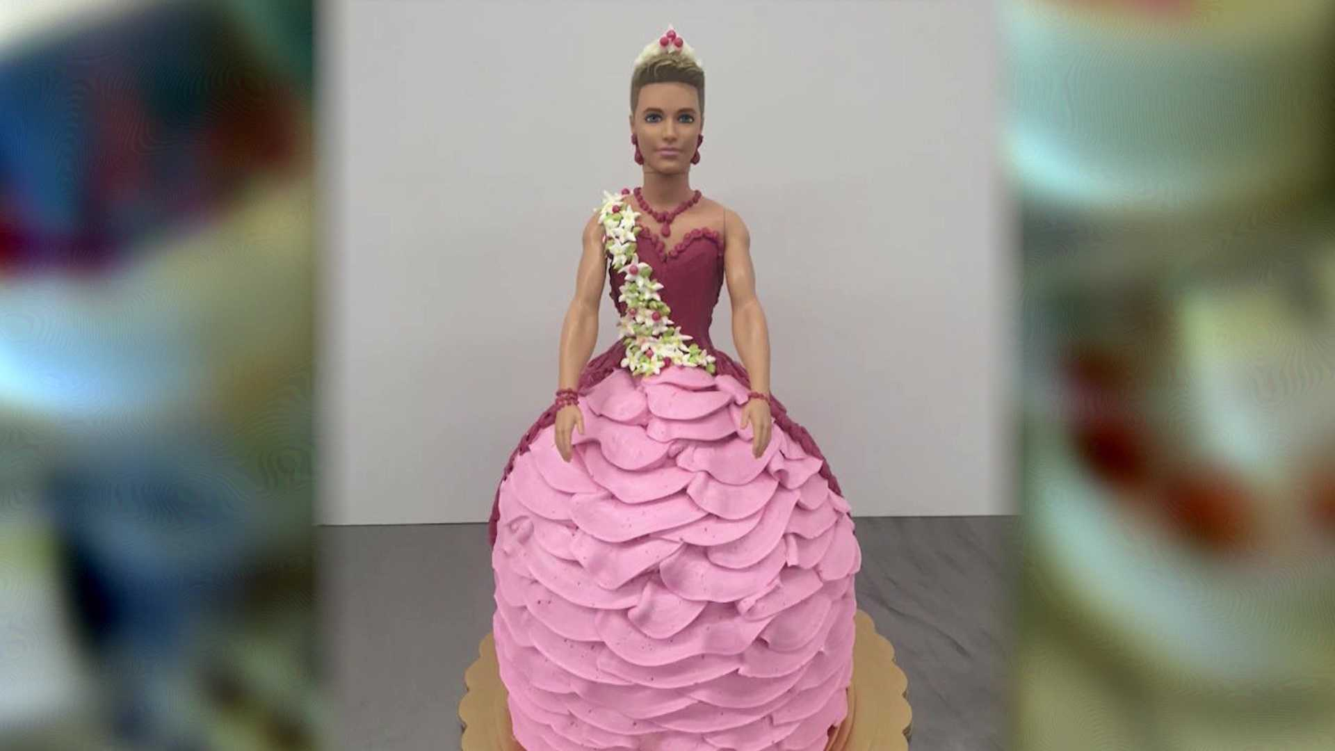 Ken doll cake created by Freeport Bakery in Sacramento.