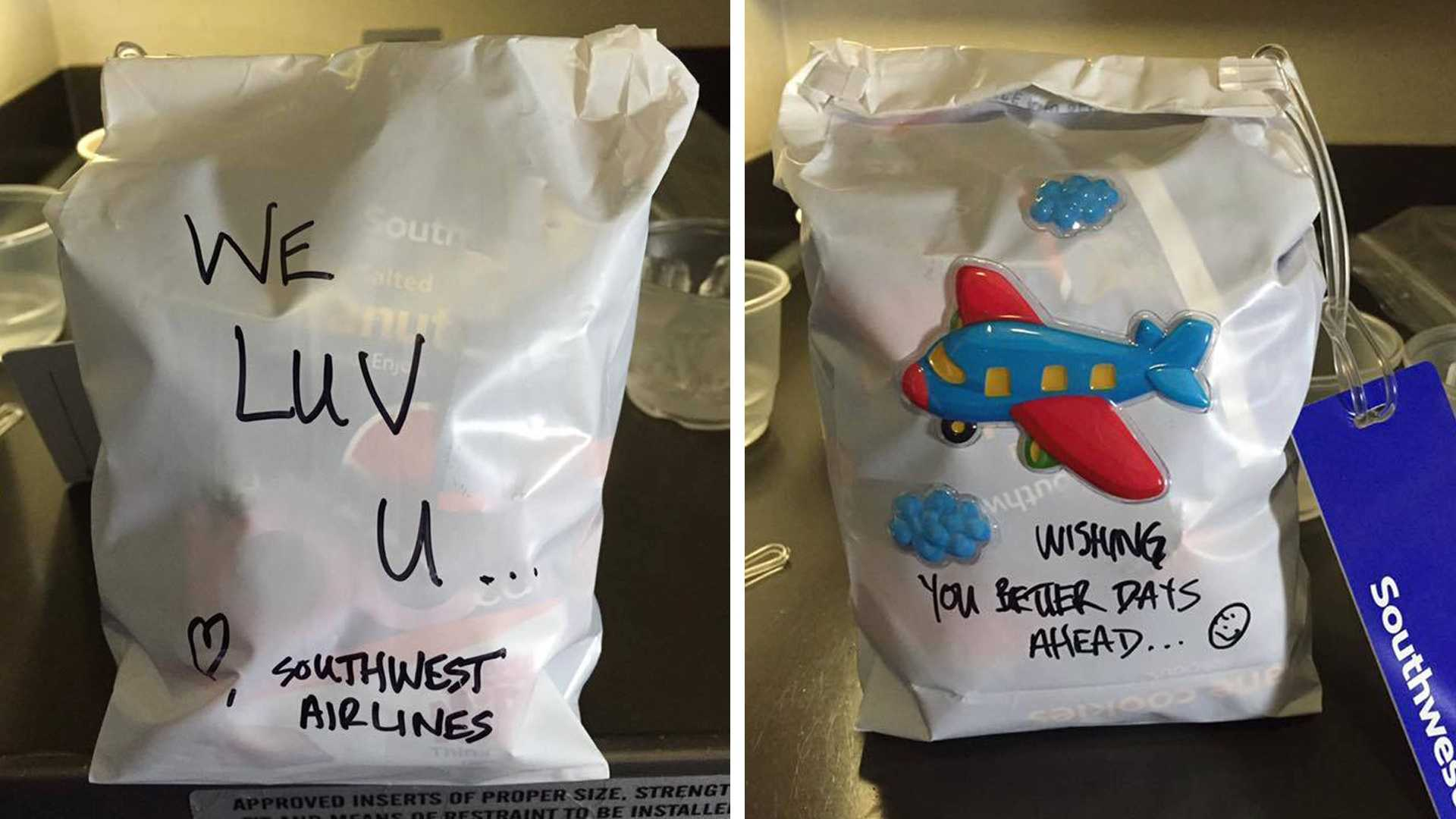 "Dean Hanson made this ""care package"" for a passenger who survived the recent Louisiana flooding."