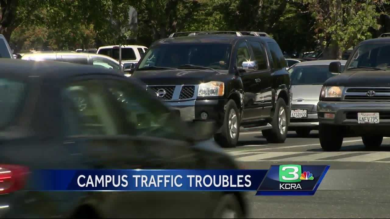Drivers say there is heavy traffic and limited parking around Sacramento State during the first week of school.