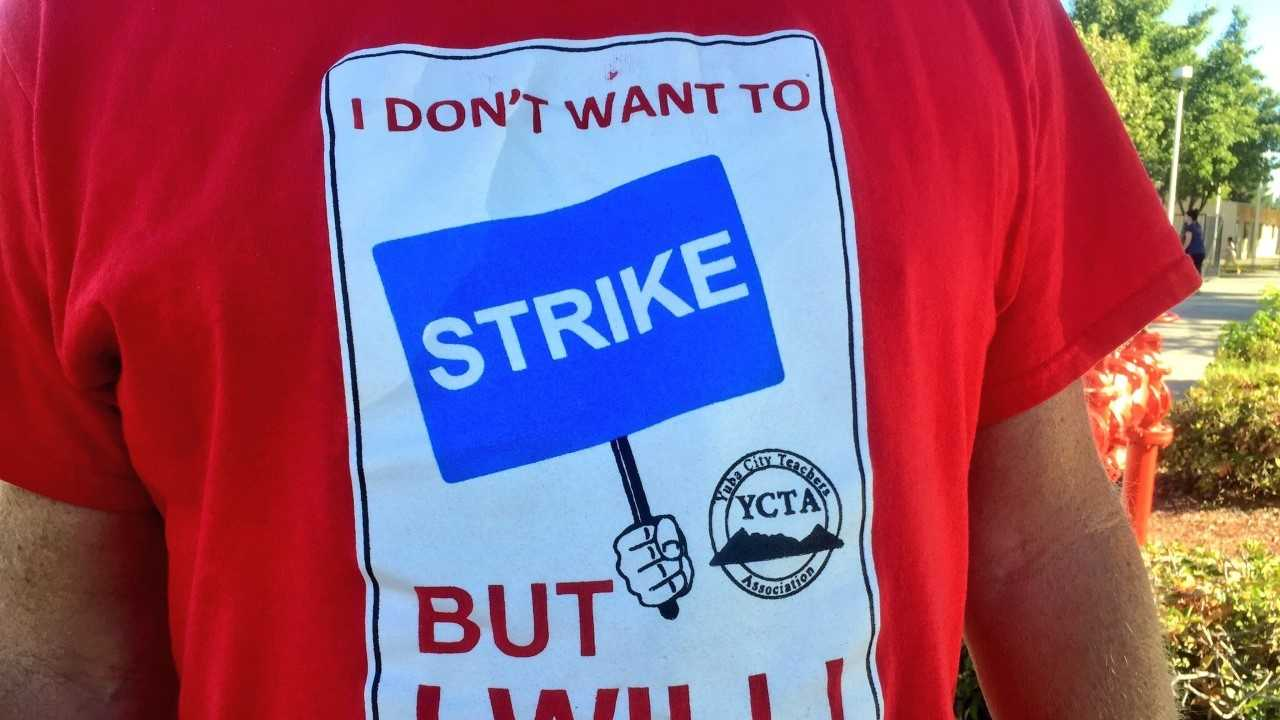 Yuba City Unified School District teachers are threatening to strike if the school doesn't meet their pay demands.
