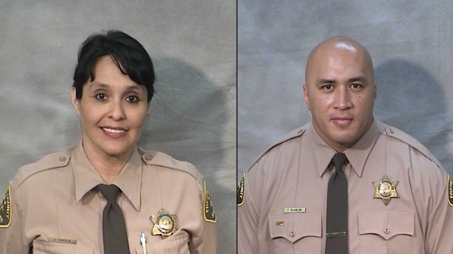 Juanita Davila (left) and Toamalama Scanlan (right) were both shot in the neck and head areas Saturday morning, officials said.