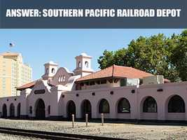 The railroad depot was built in 1915 and was restored in 1993.
