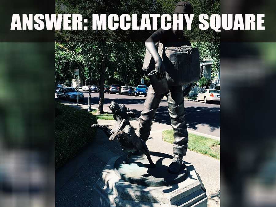 The square is located at the corner of 15th and I streets, across from the McHenry Mansion.
