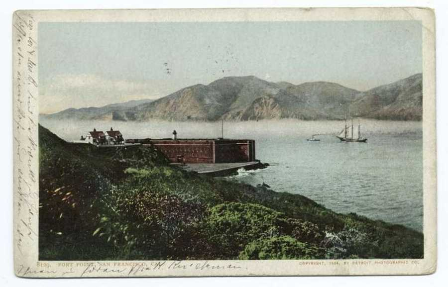 A postcard from the Detroit Publishing Company shows Fort Point in San Francisco.