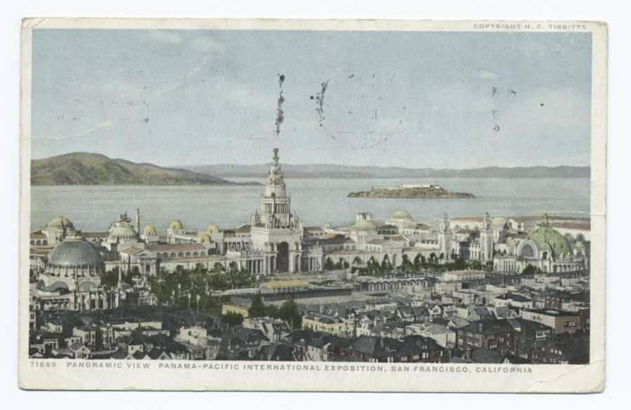 A postcard from the Detroit Publishing Company shows the 1915 Panama-Pacific International Exposition in San Francisco.