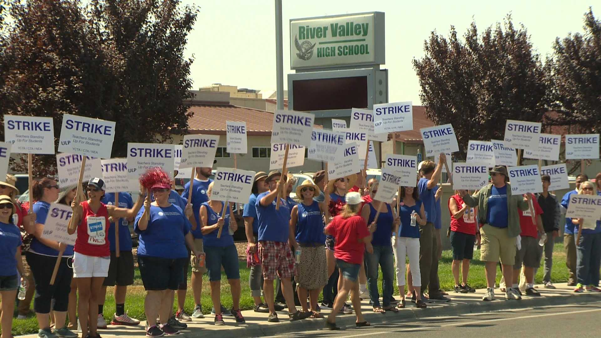 Yuba City schools teachers are on strike after wage negotiations with the district broke down.