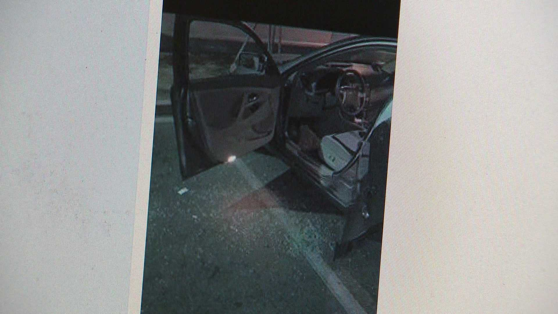 A photo posted on the South Sacramento Neighborhood Watch group shows a car with a broken glass window.