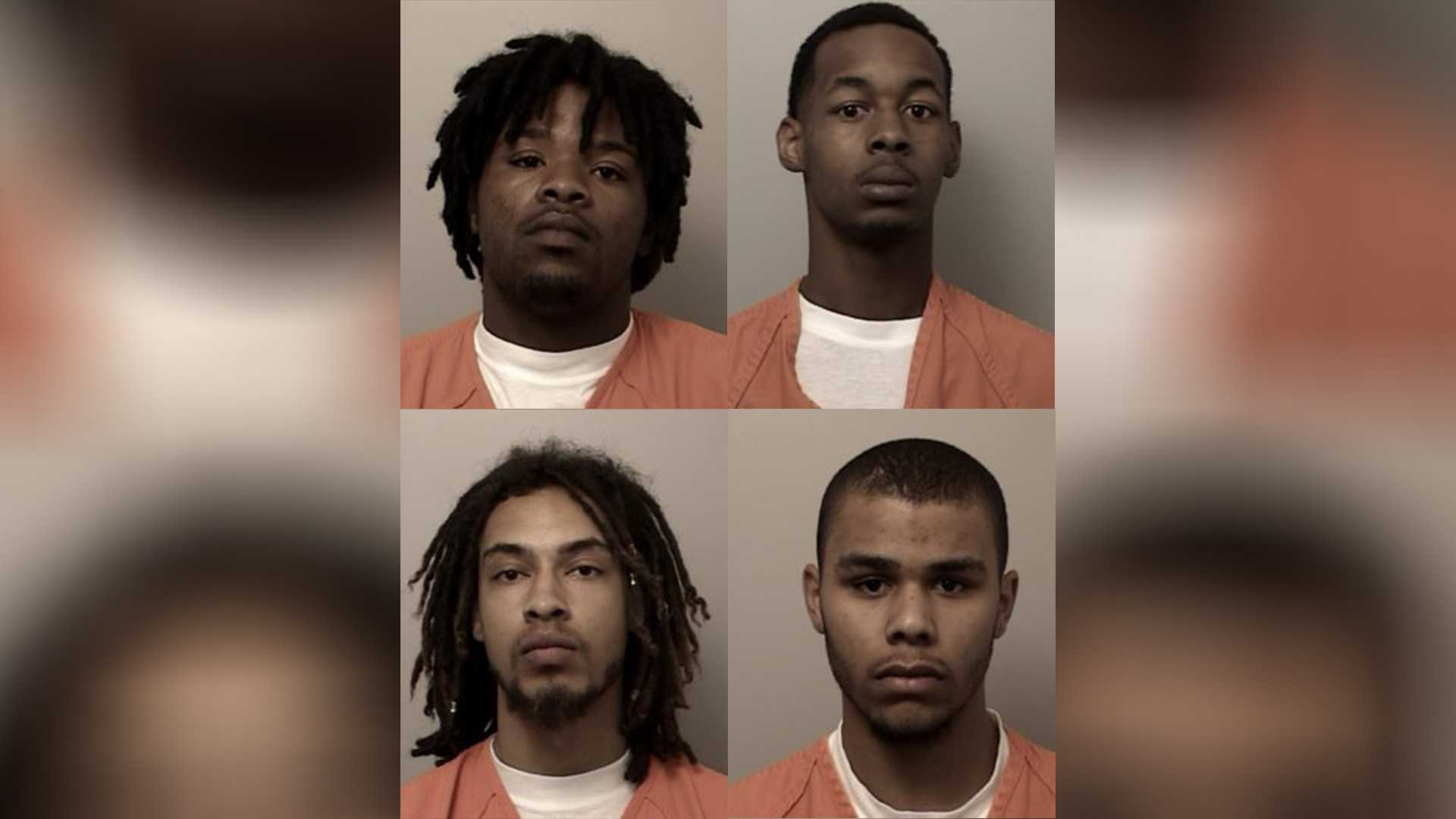 Brandon Waters (top left), Derrick Fields (top right), Walter McGee (bottom left) and Ezekiel Caesar (bottom right) were all booked at the El Dorado County Jail on Sunday. (September 11, 2016)