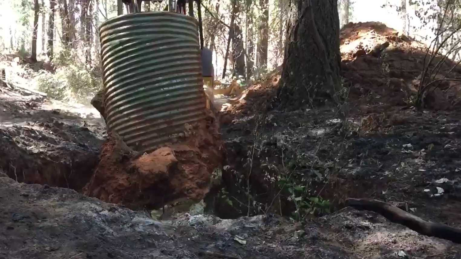 The U.S. Forest Service is working on abandoned mines in the Eldorado National Forest.