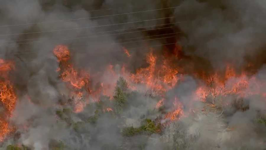 See photos of Thursday's large fire near the American River Parkway.