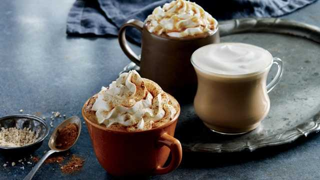5. Pumpkin spice lattes: Coffee lovers and non-coffee lovers alike delight in the tradition of pumpkin spice lattes for a real taste of fall.