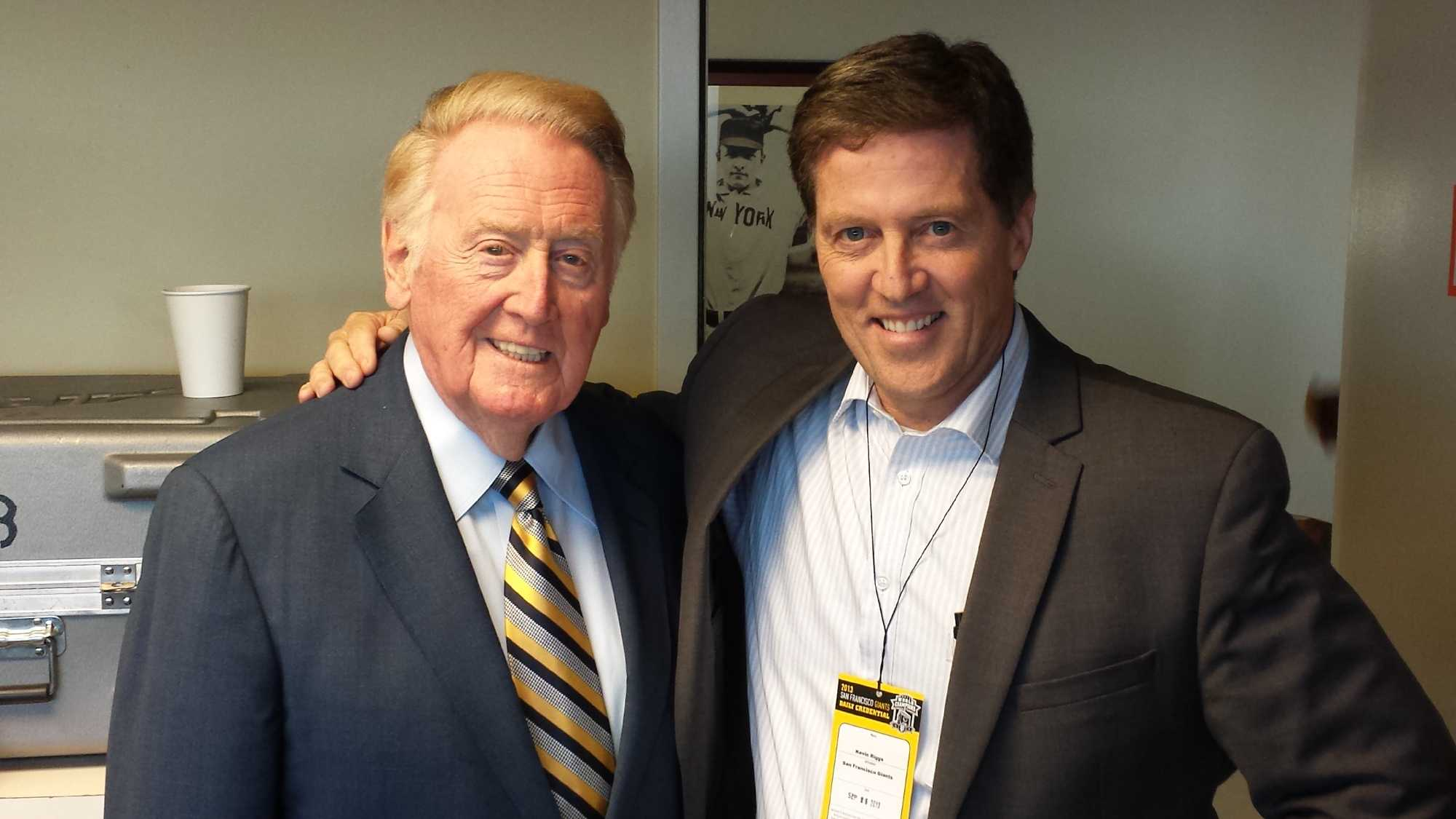 Vin Scully and Kevin Riggs