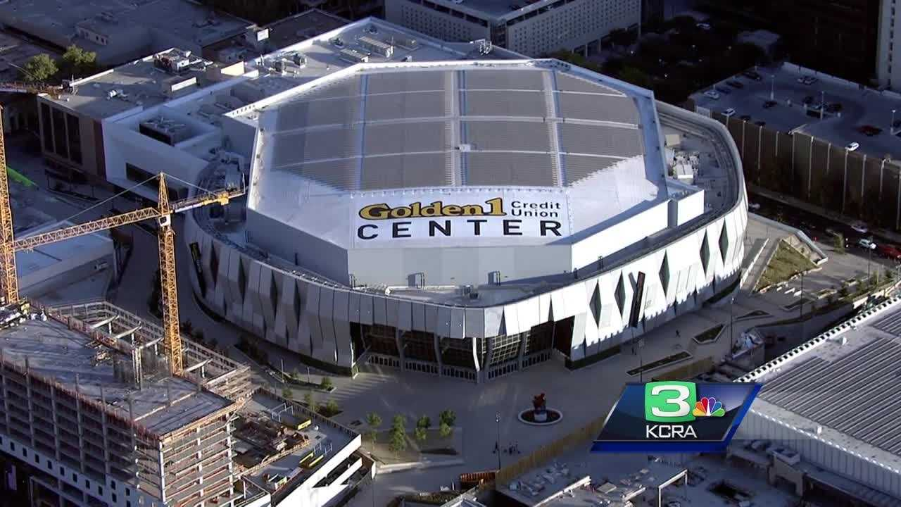 Aerial view of the Golden 1 Center