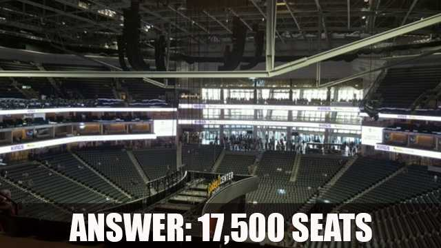 The Golden 1 Center has 17,500 seats but can expand to 19,000 for concerts and other events.