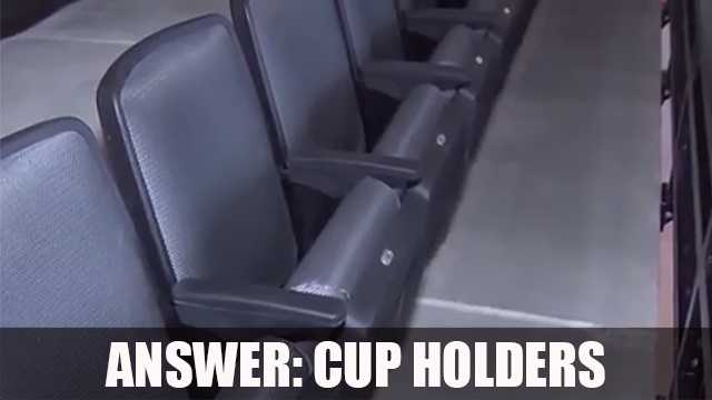 There are no cup holders for the upper level seats in the Golden 1 Center because officials say the cup holders block the line of path and traffic out of the rows.