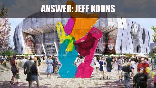 """Jeff Koons' 18-foot-tall """"Coloring Book #4"""" sculpture at the Golden 1 Center is the first publicly-owned and permanently displayed original sculpture."""