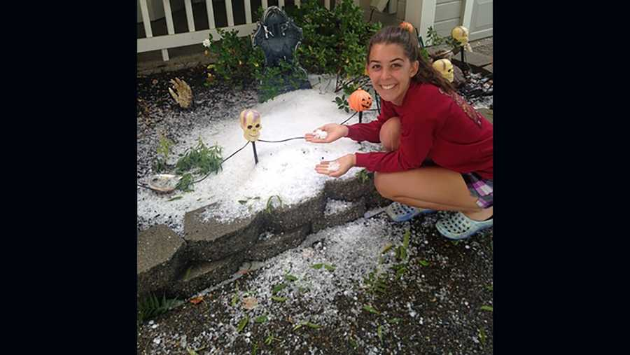 Crazy hail storm passes through Roseville