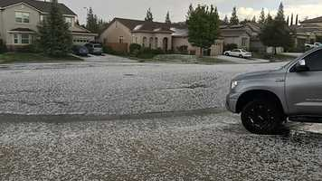 A severe thunderstorm warning was issued in Placer, El Dorado and Sacramento counties on Sunday, Oct. 2. Here are photos of the aftermath of the storm.Here is an example of hail in Roseville.
