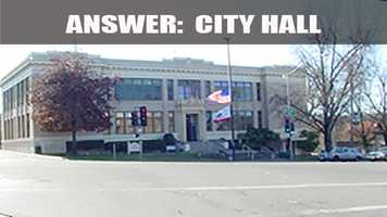 The city hall was once the Lincoln Way School.