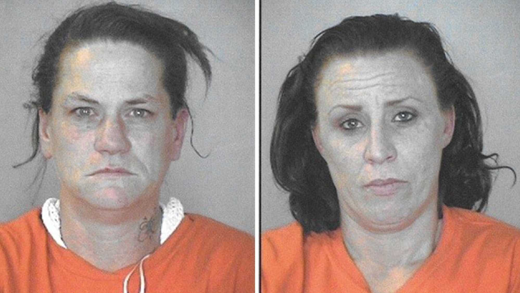 Tammy Waldrop, 40, (left) and Angela Cross, 35, (right) both of Oroville, were arrested in connection to an assault on a man.