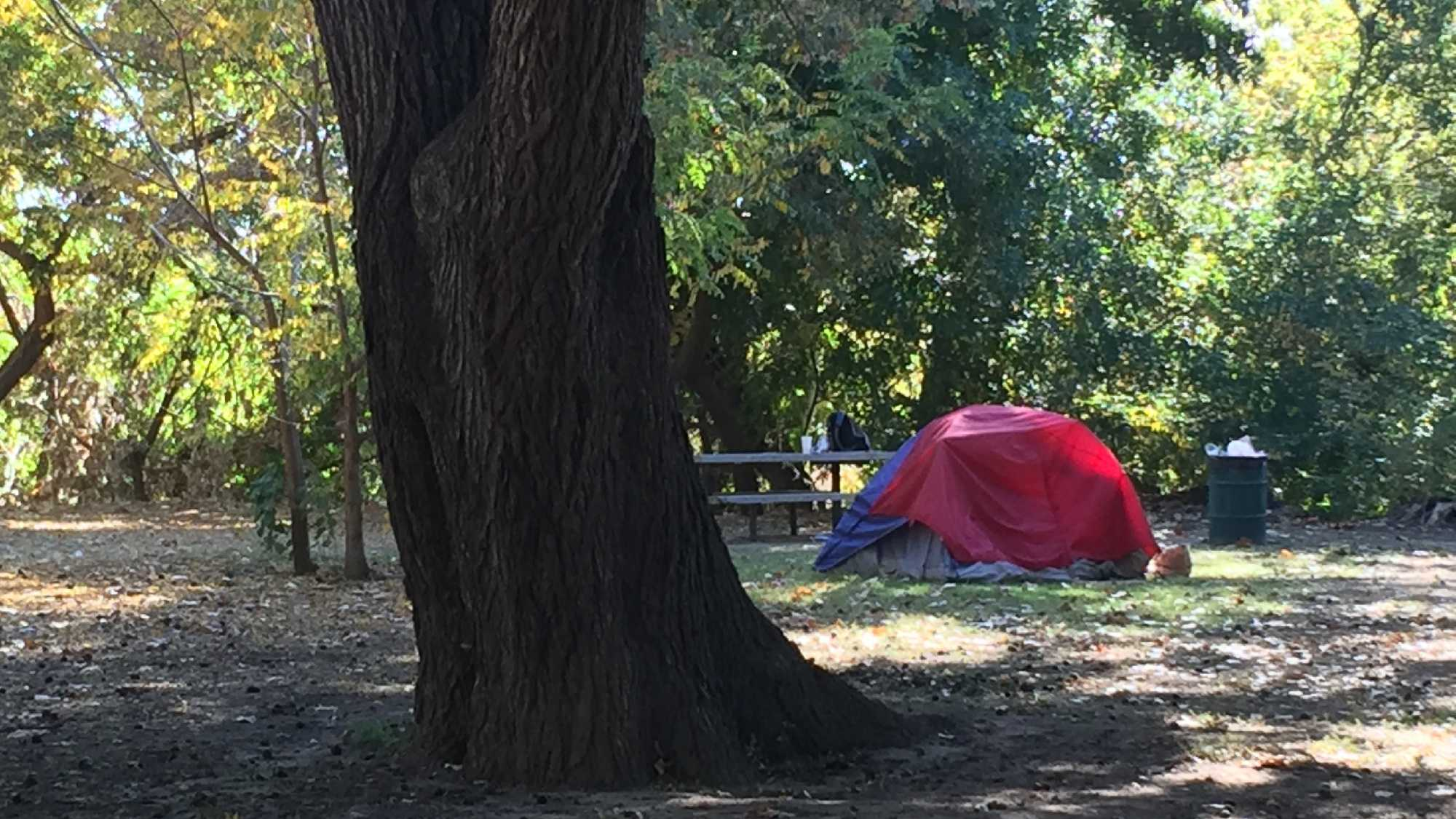 Sacramento's homeless camp in Discovery Park because they are being pushed out of downtown, homeless advocates said. The city and police said there has been no shift in policy.