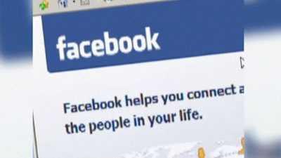 facebook logo on computer