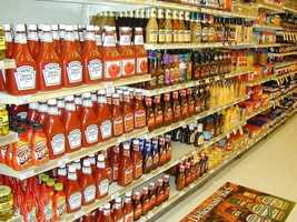No. 4: Seeing is indulging. The more products you see, the more you are likely to buy, that's why the aisles are so long and the milk is usually in the far corner.